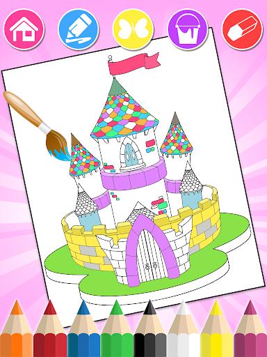 Princess Coloring Book Glitter & Girls Dress Up screenshot 10