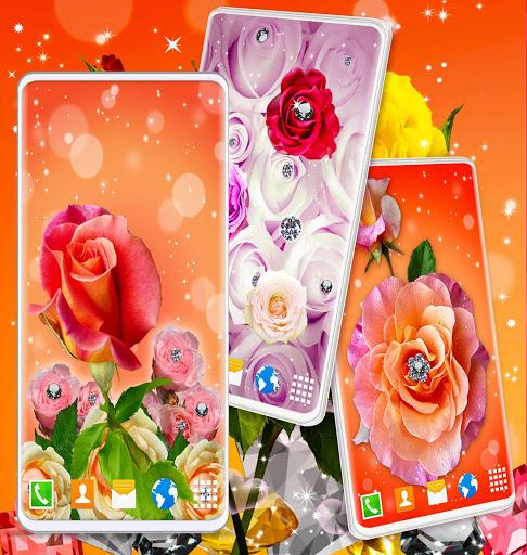 Diamond Rose Live Wallpaper ❤️ Shine HD Wallpapers 6 تصوير الشاشة