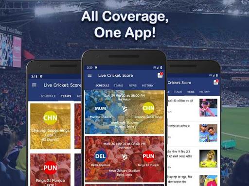 Live Score for IPL 2020 - Live Cricket Score 2 تصوير الشاشة