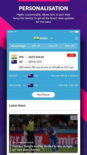 Yahoo Cricket App - Live Cricket Scores & News screenshot 6