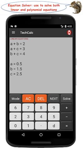 TechCalc Scientific Calculator 6 تصوير الشاشة