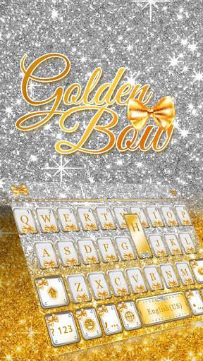 Golden Bow Keyboard Theme screenshot 4