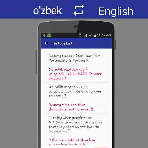 Uzbek English Translator screenshot 6