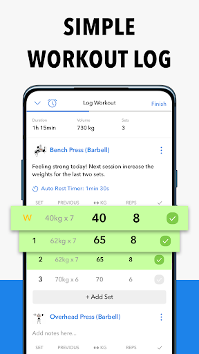 Hevy - Workout Tracker Planner Weight Lifting Log 2 تصوير الشاشة