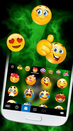 ثيم لوحة المفاتيح Rasta Weed Skull 3 تصوير الشاشة
