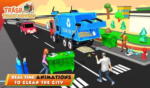 Urban Garbage Truck Driving - Waste Transporter screenshot 11