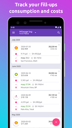 Fuelio: gas log, costs, car management, GPS routes screenshot 3