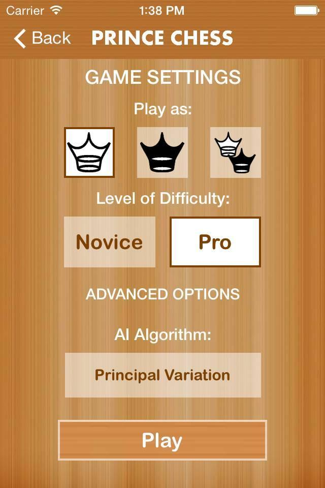 Prince Chess screenshot 2