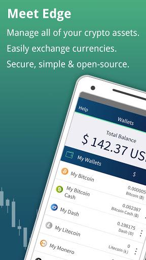 Edge - Bitcoin, Ethereum, Monero, Ripple Wallet 1 تصوير الشاشة