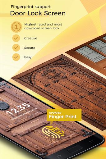 Door Lock Screen - Fingerprint & 4K Wallpapers screenshot 1