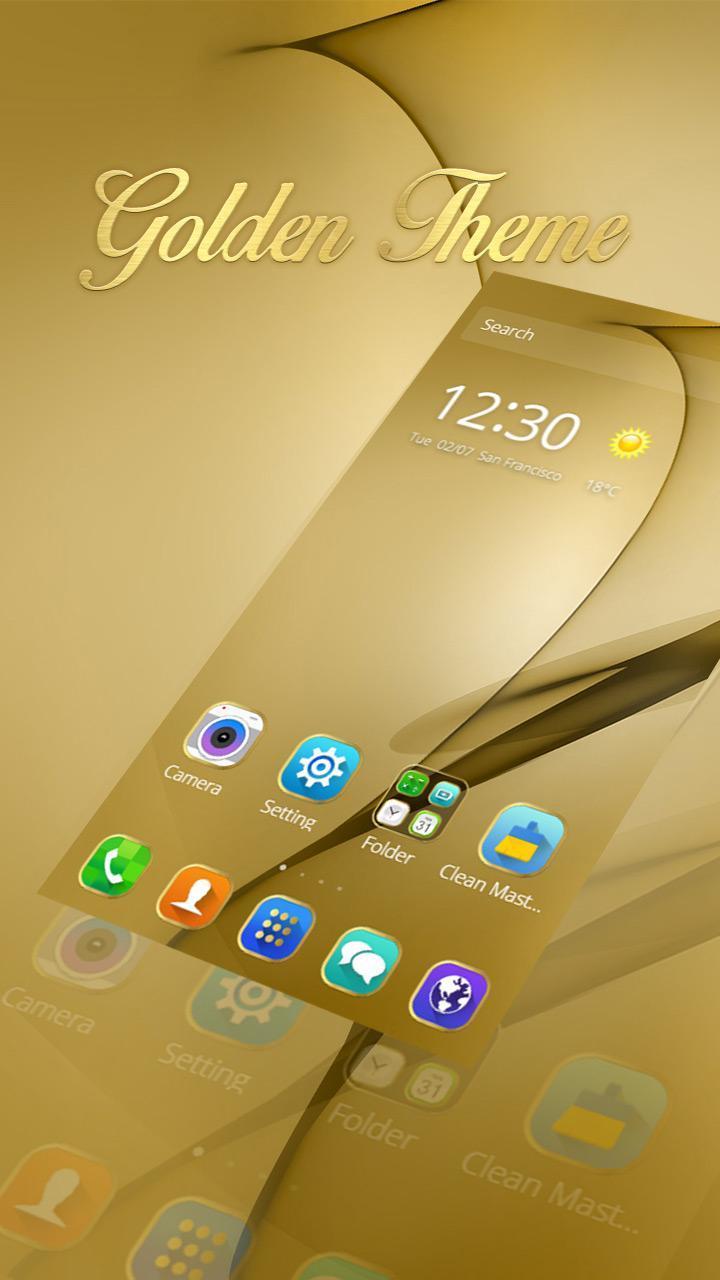 Gold Theme for Galaxy S8 Plus screenshot 6