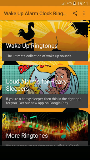 استيقظ المنبه نغمات 1 تصوير الشاشة