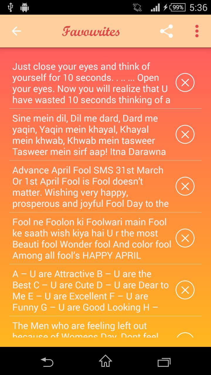 April Fool SMS screenshot 6
