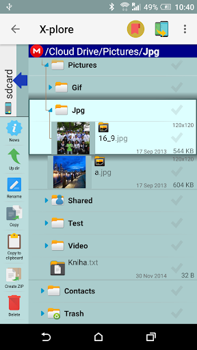 X-plore File Manager 8 تصوير الشاشة