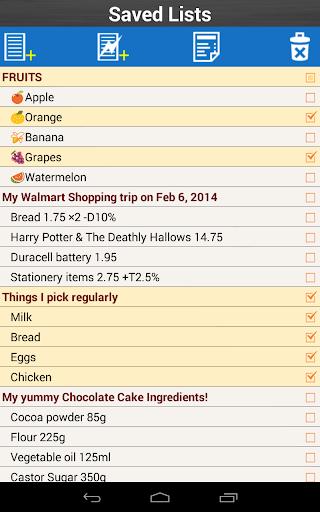 Shopping List for Grocery 3 تصوير الشاشة