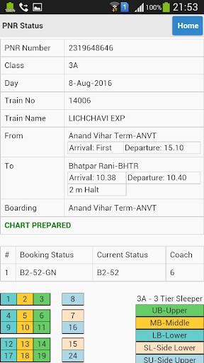 eRail.in Railways Train Time Table, Seats, Fare screenshot 8