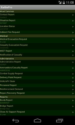 Battle Procedure Aide Memoire screenshot 3