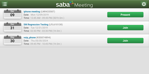 Saba Meeting screenshot 2
