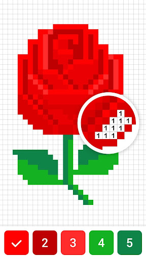 Draw.ly - Color by Number Pixel Art Magic Coloring screenshot 2