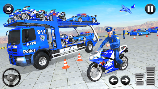 Police Bike Transport Truck screenshot 4