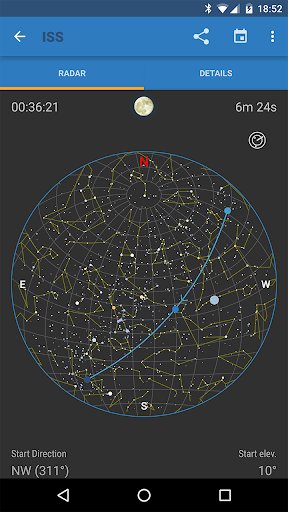 ISS Detector كاشف محطة الفضاء الدولية 2 تصوير الشاشة