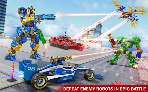 Tank Robot Game 2020 - Eagle Robot Car Games 3D screenshot 3