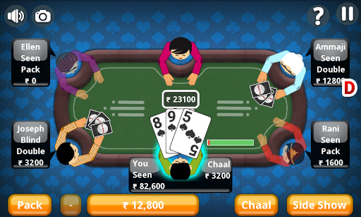 Teen Patti Offline Indian Poker 3 تصوير الشاشة