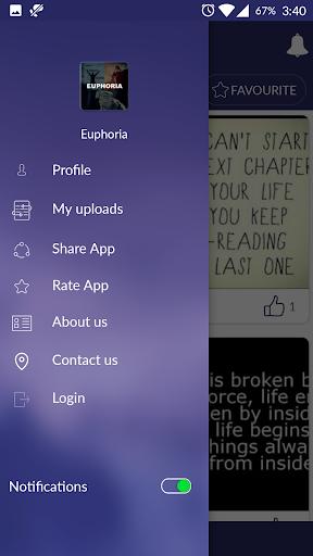 Euphoria - Quotes & Wallpapers screenshot 1