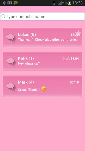 Animal Theme Pink GO SMS Pro screenshot 4