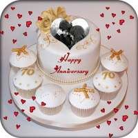 Name Photo On Anniversary Cake on 9Apps