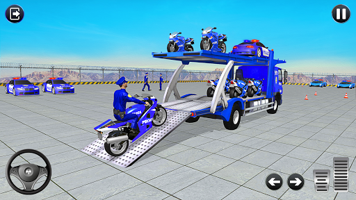 Police Bike Transport Truck screenshot 2