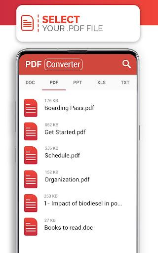 PDF Converter (doc ppt xls txt word png jpg wps) screenshot 4