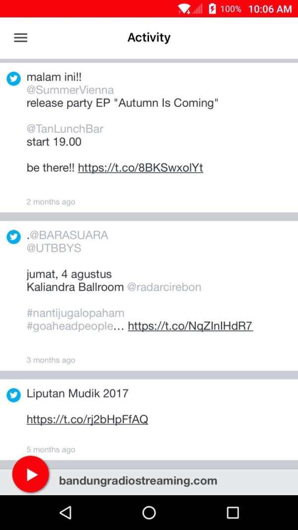 bandungradiostreaming.com screenshot 2