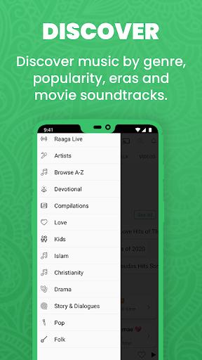 Raaga Hindi Tamil Telugu songs videos and podcasts screenshot 2