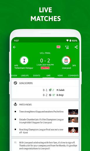 BeSoccer - Soccer Live Score screenshot 2
