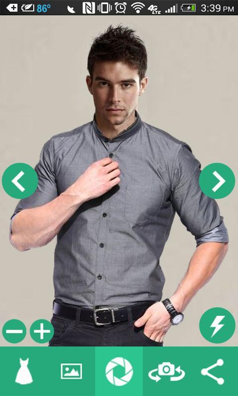 Man Shirt Photo Suit 3 تصوير الشاشة