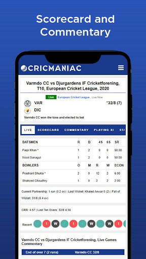 CricManiac - Live Cricket Scores screenshot 5