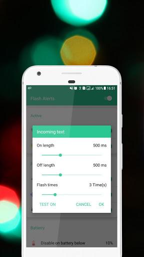 Flash alerts on call and sms - Ringing flashlight screenshot 5