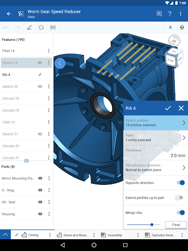 Onshape 3D CAD screenshot 9