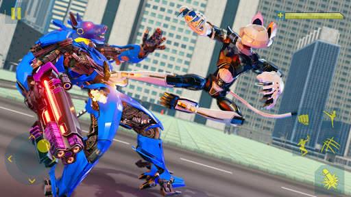 Cat Robot Car Game - Car Robot War 3 تصوير الشاشة