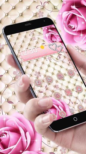 Pink Diamond Rose Theme screenshot 1