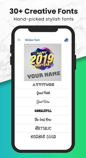 Fancy Text   Sticker Maker (WAStickerApps) screenshot 6