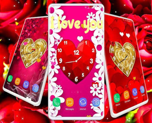Love Clock Wallpaper ❤️ Hearts 4K Live Wallpaper screenshot 6