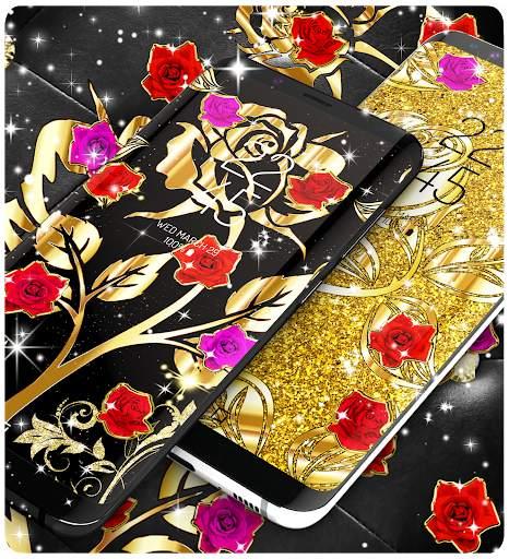 Gold rose live wallpaper screenshot 5