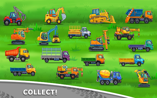 बच्चों के लिए ट्रक गेम - घर की इमारत  कार धोने स्क्रीनशॉट 7