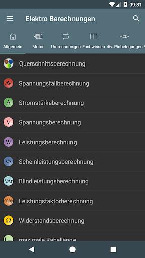 Elektro Berechnungen screenshot 1