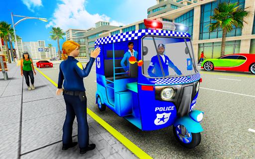 Police Tuk Tuk Auto Rickshaw Driving Game 2020 screenshot 1