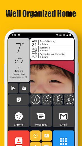 Square Home - Launcher : Windows style 1 تصوير الشاشة