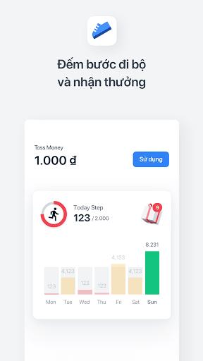 Toss: Tiền thưởng, Nạp tiền, Tài khoản miễn phí screenshot 1