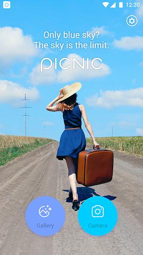 PICNIC - photo filter for dark sky, travel apps screenshot 1